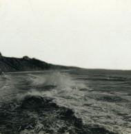 France Biarritz Effet De Vagues Ancienne Photo Stéréo CPS 1900 - Stereoscopic