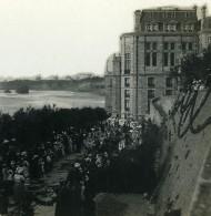 France Biarritz Une Procession  Ancienne Photo Stéréo CPS 1900 - Stereo-Photographie