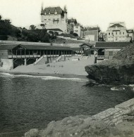 France Biarritz Le Vieux Port Ancienne Photo Stéréo CPS 1900 - Stereoscopic