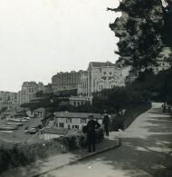 France Biarritz Route Du Port Panorama Ancienne Photo Stéréo CPS 1900 - Photographs