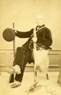 France Paris Chasseur Costume Fusil De Chasse Chien Ancienne CDV Photo Robe 1860 - Photographs