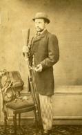 France Roubaix Chasseur Fusil De Chasse Ancienne CDV Photo Wilhem & Cailleteau 1860 - Photographs