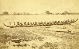 Indonésie Sumatra Pirogue De Chef Ancienne CDV Photo Pun Ky 1875 - Photos