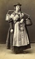 Italie Venise Porteuse D'eau Costume Traditionnel Ancienne CDV Photo Naya 1870 - Photographs