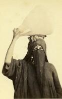 Algerie Alger? Porteuse D'Eau Femme Costume Niqab Ancienne CDV Photo 1870 - Photographs