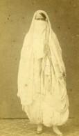 Algerie Alger? Femme Mode Costume Niqab Ancienne CDV Photo 1870 - Photographs