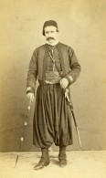 Egypte Le Caire ? Homme Mode Costume Traditionnel Ancienne CDV Photo 1870 - Photographs