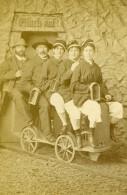 Allemagne Berchtesgaden Promenade A La Mine De Sel Ancienne CDV Photo Ney 1890 - Photographs