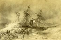Afrique Du Sud Le Primauguet Echoué Au Cap De Bonne Esperance En 1865 Ancienne Photo - Photographs