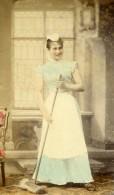 Allemagne Hambourg Femme De Ménage Dienstmadchen Ancienne CDV Photo Hattorff 1890 - Photographs