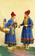 Suede Femmes Et Enfant Costume Traditionnel Ancienne CDV Photo Colorié Eurenius 1868 - Photographs