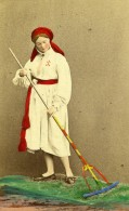 Suede Scanie Herrestad Femme Costume Traditionnel Ancienne CDV Photo Eurenius 1868 - Photographs