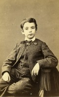 France Paris Jeune Garcon Mode Costume Ancienne CDV Photo Nadar 1870 - Photos