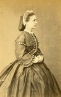 Perou Lima Femme Mode Costume Ancienne CDV Photo Maunoury Nadar 1870 - Photographs