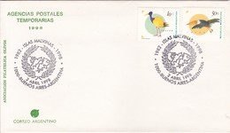 ISLAS MALVINAS 1982-1998 OBLIT BS AS. AGENICAS POSTALES TEMPORARIAS. ILES MALOUINES MALVINAS- BLEUP - Falkland Islands