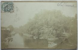 CARTE PHOTO - VILLENNES Sur SEINE Peniches, Activité Fluviale - Villennes-sur-Seine