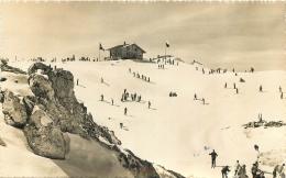 LA BERNEUSE LEYSIN  SKIEURS  AVEC CACHET TOURISTIQUE AU VERSO - VD Vaud