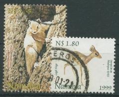 Namibia 1999 Tiere Damaradikdik Kongo-Rotschenkelhörnchen 970/71 Gestempelt - Namibia (1990- ...)