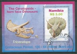 Namibia 1997 Dinosaurier Triceratops Block 29 Gestempelt (C27634) - Namibia (1990- ...)