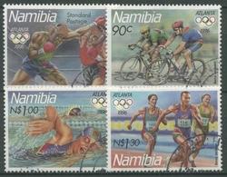 Namibia 1996 Olympische Spiele Atlanta Boxen Rad Schwimmen 815/18 Gestempelt - Namibia (1990- ...)