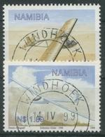 Namibia 1999 Segelfliegerei Segelflugzeug 983/84 Gestempelt - Namibia (1990- ...)