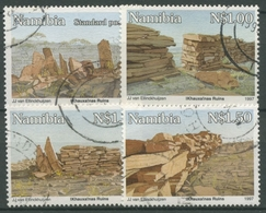 Namibia 1997 Bauwerke Alte Khauxalnas-Ruinen 828/31 Gestempelt - Namibia (1990- ...)