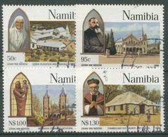 Namibia 1996 100 J. Katholische Mission Kirchen 808/11 Gestempelt - Namibia (1990- ...)