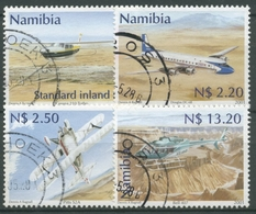 Namibia 2001 Zivilluftfahrt Flugzeuge 1037/40 Gestempelt - Namibia (1990- ...)