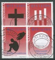 Namibia 2002 Warnung Vor AIDS 1093/96 Gestempelt - Namibia (1990- ...)