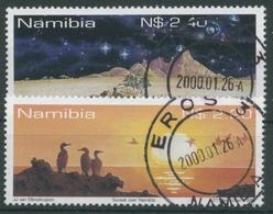 Namibia 1999 Eintritt In Das Jahr 2000 Sonnenuntergang 1002/03 Gestempelt - Namibia (1990- ...)