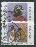 Namibia 2000 Passionspiele Der Missionsstation Döbra 1015/16 Gestempelt - Namibia (1990- ...)