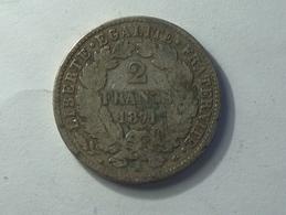 FRANCE 2 Francs 1871 A - Silver, Argent - France