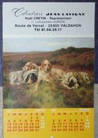 Petit Calendrier De Poche Lavigne 1987  Chien Chasse. -12 Pages - - Calendars