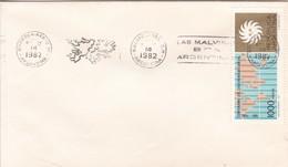 BANDOLETA PARLANTE LAS MALVINAS SON ARGENTINAS BS AS 1982. ILES MALOUINES MALVINAS- BLEUP - Falkland Islands