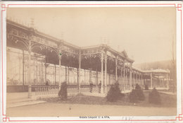 BELGIQUE SPA PHOTO 145*95mm SUR CARTON  GALERIE LEOPOLD II DATEE 1885 - Spa