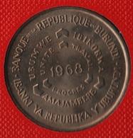 BURUNDI 10 FRANCS 1968  FAO KM# 17  IBANKI YA REPUBLIKA Y'UBURUNDI - Burundi