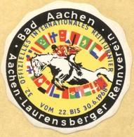 Tematica - Erinnofilia - 1968 - Bad Aachen - 32. Offizielles Internationales Reitturnier - Laurensberger Rennverein - Po - Erinnofilia