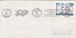 BANDELETA PARLANTE, LAS MALVINAS SON ARGENTINAS 1972 BS AS. ILES MALOUINES MALVINAS- BLEUP - Falkland Islands