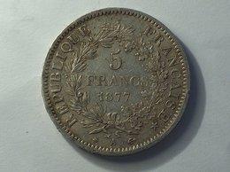 FRANCE 5 Francs 1877 A - Silver, Argent - J. 5 Francs