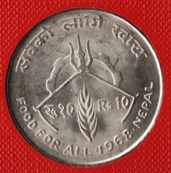 NEPAL 10 RUPEE 2025 (1968) FAO FOOD FOR ALL ARGENT SILVER KM# 794 - Burundi