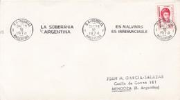BANDELETA PARLANTE, LA SOBERANIA ARGENTINA 1974 BA. ILES MALOUINES MALVINAS- BLEUP - Falkland Islands