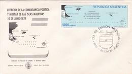 FDC CREACION COMANDANCIA POLITICA MILITAR ISLAS MALVINAS 1829-1982. ILES MALOUINES MALVINAS- BLEUP - Falkland Islands