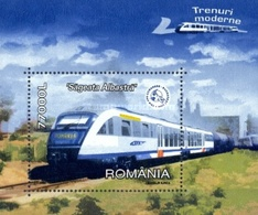 ROMANIA 2004 Modern Trains   S/s  MNH - Blocs-feuillets