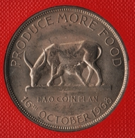 UGANDA 5 SHILLINGS ND (1968) FAO KM# 7 Vache Et Son Veau ANIMAL - Ouganda