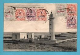 Maroc Casablanca Le Phare Des Roches Noires Carte Avec Plis Voir Scans - Casablanca