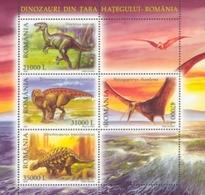 ROMANIA 2005 Dinosaurs   S/s  MNH - Blocs-feuillets