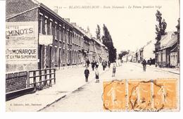 BLANC-MISSERON / -Route Nationale- Le Poteau Frontière Belge - France