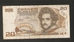 T. Austria Zwanzig 20 Schilling 1986 Osterreichische Nationalbank Osterreich Banknote Moritz Daffinger Albertina - Austria