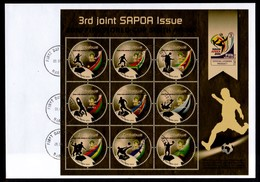 Zimbabwe 2010 SAPOA Fifa Mini-Sheet On FDC / First Day Cover / Ersttagsbrief (Simbabwe) - Zimbabwe (1980-...)