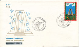 Turkey FDC 18-3-1990 Wars Of Dardanelles With Cachet - 1921-... Republic